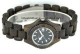 Natural Wood Watches Ladies Ebony Wood Bracelet Watch Date