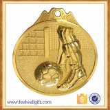 Custom 3D Zinc Alloy Gold Silver Bronze Football Soccor Medal