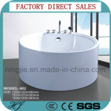 Modern Freestanding Soaking Roud Shape Acrylic Sanitary Ware Bathtub (602)