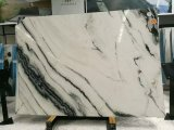Natural Stone Polished Panda White Marble Slabs with Black Vein on Sales