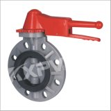 Chinese Factory, CPVC Lever Handle Butterfly Valve, Plastic Butterfly Valve
