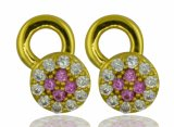 925 Sterling Silver CZ Paved Earring Jewellery