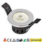 Ce SAA Fixed Fire Rated 5W Dimmable Recessed LED Downlight
