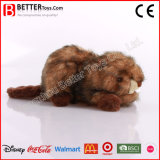 En-71 Soft Beaver Plush Animal Stuffed Toy for Kids