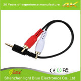 3.5mm Male to 2 RCA Male Stereo Audio Y Cable