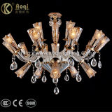 Unique Design Amber Crystal Chandelier Light