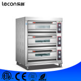 Commercial 3 Decks 6 Trays Electric Pizza Oven for Bakery