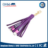 Keyring Tassel 2 in 1 USB Charger Cable (TUV)