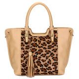 Leopard Print Tote Tassel Fashion Leather Handbags (MBLX031102)