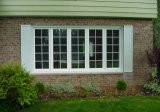 White Color UPVC Casement Window with Decorative Grid