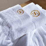 Hotel Satin Border 100% Cotton Terry Cloth Towel Supplier (DPF201642)