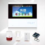 "Internal Antenna LCD PSTN GSM Alarm System with 7"" Touch Screen (ES-S6)"