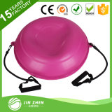 """No5-1 22"""" 55cm Bosu Balance Fitness Strength Exercise Ball with Resistance Band and Pump"""