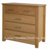 High-Quality Oak Bedroom 5 Drawers Storage Dresser Chest (HC28)