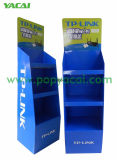 Blue Cardboard Display Stand with 3 Shelves for Router