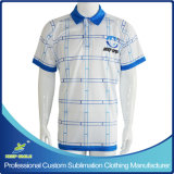 Custom Dye Sublimation Printing Polo T Shirt for Knitted Clothing