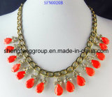 Fashion Jewelry Sweet Design Neon Acrylic Stone Necklace Jewelry (SFN0021A, SFN0020)