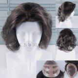 Top Grade 100% Virgin Remy Hair Human Hair Men′s Toupee