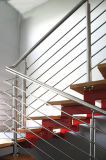 Staircase Stainless Steel Post for Wire and Rod Balustrade