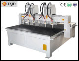 Six Spindles CNC Wood Drilling Engraving Machine