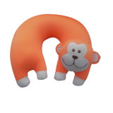 Inflatable U Shape PVC Flocked Velvet Neck Pillow