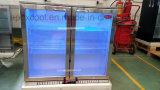 2 Glass Door Big Capacity Display Back Bar Cooler/Stainless Steel Refrigerator/Beer Chiller