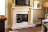 Fp001 Hand Carved Limestone Fireplace Surround