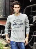 Cool Mens Warm Long Sleeve Sweater with Print Logo