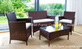 4-PC Kd Rattan Chair Set Wicker Conversation Set