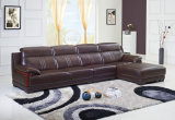 China Top Grain Living Room Leather Sofa with Corner L. P2813