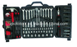"142PCS 1/4"" 3/8"" Dr Sockets Universal Wrench with Plier"