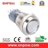 Onpow 16mm Concave Metal Pushbutton Switch (LAS2GQC-11/S, CE, CCC, RoHS Compliant)
