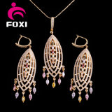 CZ Jewelry Manufacturer Wholesaler African Style Dubai Gold Plated Jewelry Set