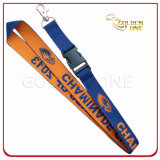Supply Personalized Polyester Woven Lanyard with Metal Hook