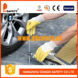 Ddsafety 2017 Cotton Yellow Latex Coated Working Gloves