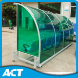 Curved Frame Football Substitute Bench with Tinted Sun Panel