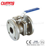 2PC Stainless Steel Ball Valve with Lock Handle Ss316/Ss304 (Q41F-16R)
