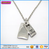 New Design Silver Jewelry Can Engraved Any Words Pendant Necklace