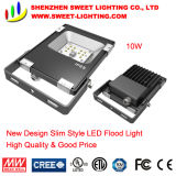 10W New Super Slim Top Quality LED Flood Light with 5 Years Warranty