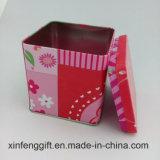 Indian Metal Square Red Tea Tin Box