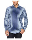 Long Sleeves Cotton Casual Plaid Shirt for Men