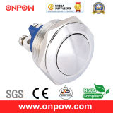 Onpow 19mm Metal Pushbutton Switch (GQ19SB-10/S, CCC, CE, RoHS Compliant)