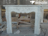 Granite/Marble Statue Fireplace Mantle/Mantels with Electric Fireplace for Indoor (SC038)