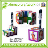7cm Square Shape Magic Cube with Penholder and Magnetic