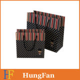 Luxury Designed Gift Paper Bag with Round Ribbon
