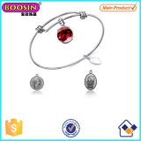Barefoot in The Sand Charm Silver Expandable Bangle #Scb006