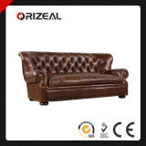 Orizeal Churchill Handcrafted Leather Sofa (OZ-LS-2021)