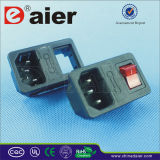 Male Outlet Electrical Switch Socket with Fuse