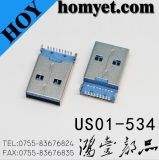 USB Male Connector with DIP Type and Two Location Pin(Us01-534