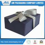 with Ribbon Rigid Cardboard Red Folding Packaging Box